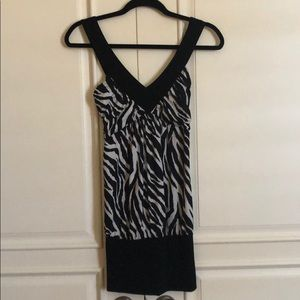candy rain Dresses - Sexy zebra mini dress